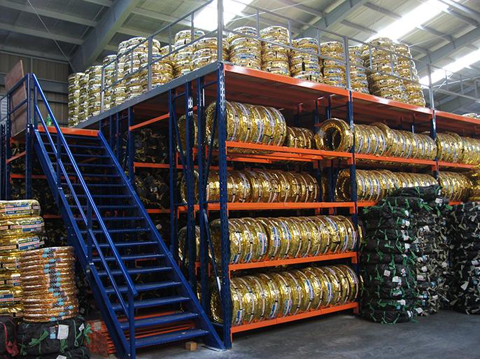 Mezzanine Floor Racking : Southtech steel rack supported mezzanine